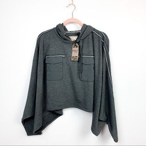 Triple Five Soul NWT Valentina Grey Knit Top